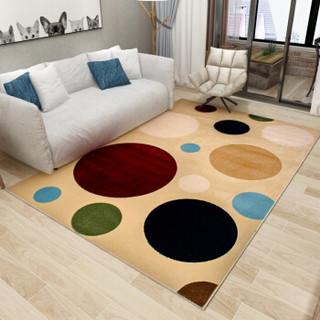 丽家地毯 客厅卧室茶几沙发餐厅简约防滑地毯 米奇4886Y 80*120cm
