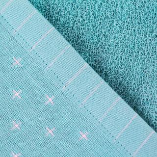 三利 纯棉AB版星空纱布毛巾被 40s精梳纱 居家午休四季通用盖毯 单人150×200cm 浅葱色