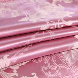 北极绒 纯棉四件套全棉套件床上用品 加厚贡缎提花双人床单被套200*230cm 佳人有约 1.5/1.8米床