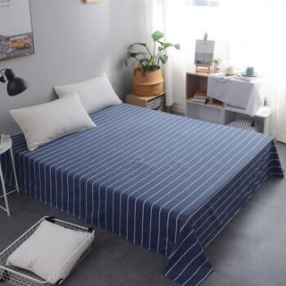 北极绒 全棉床单单件 纯棉被单单人床罩席梦思保护套 悠闲时光 160*230cm 0.9/1.2/1.35米床