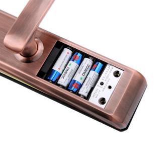 玥玛 指纹锁 密码锁 防盗门电子锁 智能门锁FP1012红古铜