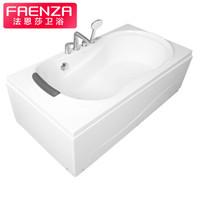 法恩莎(FAENZA)  浴室亚克力浴盆1.5米 五件套普通浴缸 澡盆FW003C15 左裙