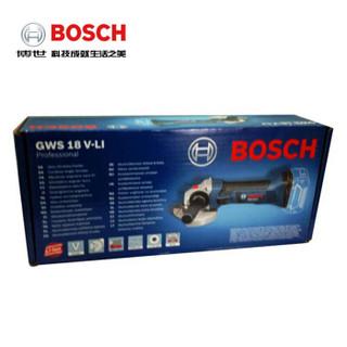 博世电动工具18V充电式锂电角向磨光机GWS18V-LI100mm【不含电池充电器】多功能角磨机切割机0 601 93A 385