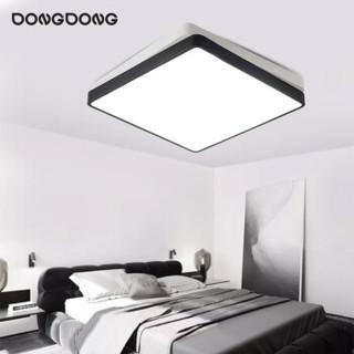 DongDong 東東 D0060-X/15W/TR 北欧卧室吸顶灯客厅灯LED灯具灯饰现代简约创意三段调光调色 (白+黑色) 雷士照明设计师品牌