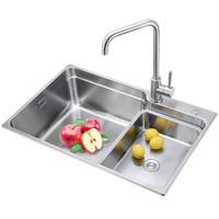 莱尔诗丹 Larsd  LR7045  不锈钢水槽单槽台下盆 水槽单槽套餐 厨房洗菜池洗菜盆洗碗池