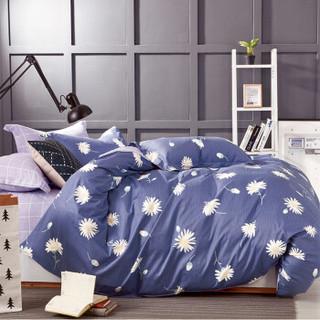 红瑞家纺 四件套纯棉 床上用品全棉被罩被套床单双人床品套件1.5/1.8米床 200*230cm 兰黛佳人