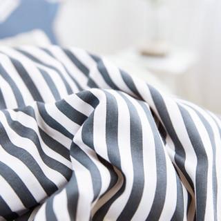 红瑞家纺 床上用品四件套 纯棉双人被罩床品套件 全棉床单枕套被套 1.5/1.8米200*230cm 乐享一族
