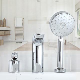 科勒(KOHLER)浴缸龙头 利欧三孔浴缸花洒龙头 缸边式冷热花洒龙头K-R72330T-4-CP