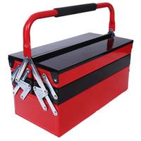 威克(vico)WK990014 三层金属工具箱 家用五金工具箱 车载收纳箱 电工维修零件盒