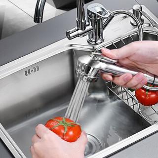 卡贝(Cobbe)厨房水龙头冷热抽拉式水槽洗菜盆厨用带增压喷枪龙头