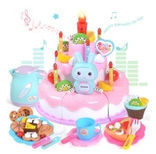 ALCTOYS 三层蛋糕切切乐 38件套 生日女孩套装 粉色