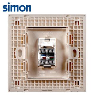 西蒙(SIMON) 开关插座面板 E6系列 一位电脑插座 86型面板 香槟金色 725218-46