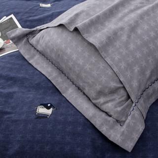 杉杉 床品套件 全棉加厚双面磨毛四件套 纯棉床单被套 曼妙之旅 1.5米床 200*230cm