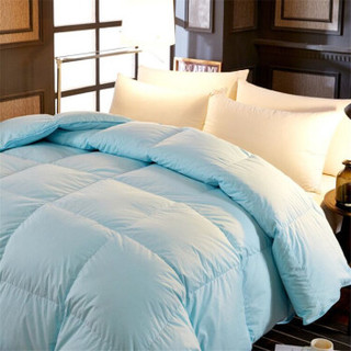 雅鹿 羽绒被防钻绒白鹅毛被 星级酒店款被子被芯 宾馆被-蓝 200*230cm(白鹅毛片填充2000g)