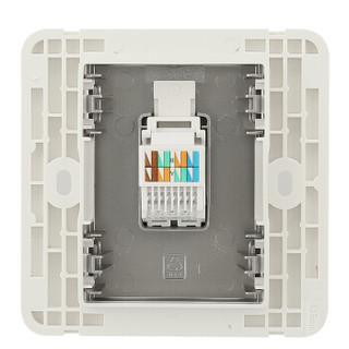 西门子(SIEMENS)开关插座 电脑插座 86型插座面板皓睿硒釉银