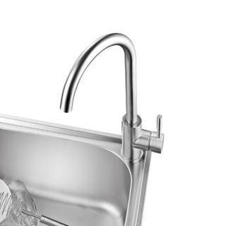 箭牌(ARROW)304不锈钢厨房水槽单槽洗菜盆 厨房洗手盆带龙头洗菜池水槽AEHS504001R