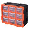拓为(Tactix)320674CN 9盒零件收纳盒抽屉式塑料盒工具盒 乐高模型收纳