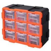 PLUS会员:TACTIX 拓为 320674CN 抽屉式零件收纳盒 9盒