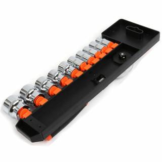 华丰巨箭 HF-89609B 12件套汽修工具套装 12.5mm系列快速棘轮扳手套筒组套