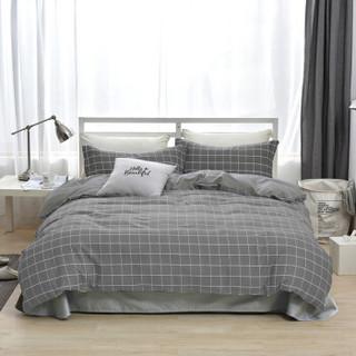 雅鹿·自由自在 四件套纯棉家纺 床上用品床单被套枕套全棉斜纹套件 1.5米/1.8米床 被套200*230cm 慕尼黑