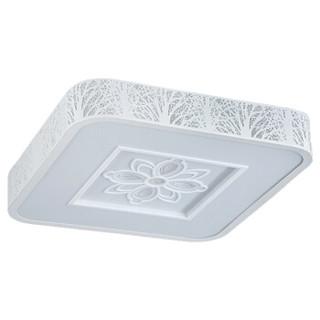 nvc-lighting 雷士照明 吸顶灯 客厅灯 卧室灯 led灯具 现代简约创意铁艺灯 树影正方形单色光(24W 6500K)