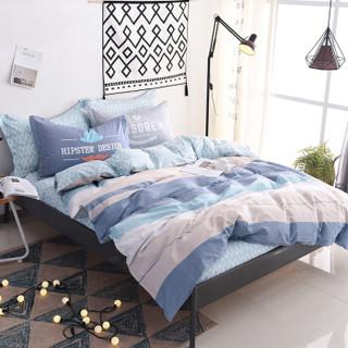 雅鹿·自由自在 四件套纯棉家纺 床上用品床单被套枕套全棉斜纹套件 1.5米/1.8米床 被套200*230cm 青春永恒
