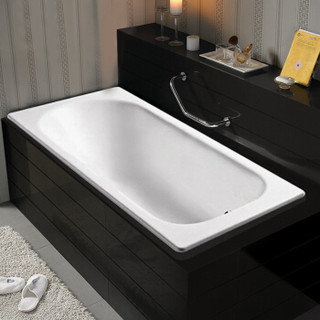科勒浴缸KOHLER索尚嵌入式铸铁浴缸K-940T-0无扶手孔1.7米浴缸