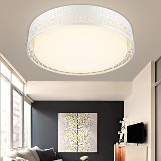 nvc-lighting 雷士照明  ENKX9092 LED吸顶灯卧室灯书房阳台灯具 双色光源圆形铁艺灯具 18W