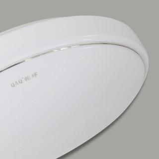 QAQ 乾球 LED免拆吸顶灯 简约卧室客厅书房灯具 正白光 银寰月 12W