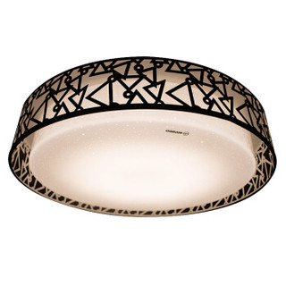 OSRAM 欧司朗 LED圆形吸顶灯28W 分段调光卧室灯客厅灯铁艺灯方形
