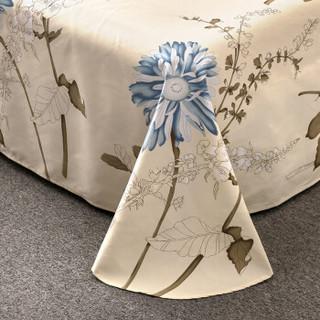 北极绒 床品家纺 双人床单亲肤印花被单单件 一抹清香 230*250cm