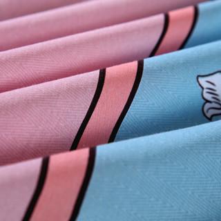 艾薇 套件家纺 单人宿舍全棉斜纹三件套 纯棉床单被套 学生床上用品 罗曼蒂 1/1.2米床 150*215cm