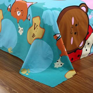 艾薇(AVIVI)床单单件纯棉40支斜纹大被单双人床1.5米床200 230(乐酷生活)