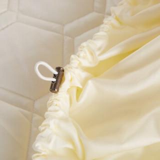 恒源祥 可水洗床护罩 防滑床笠单件 可折叠加厚床垫保护套 米色 180*200