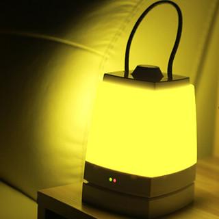 奥其斯(OUTRACE)LED手提夜灯创意无极调光卧室床头灯氛围灯 底座充电款 黄光