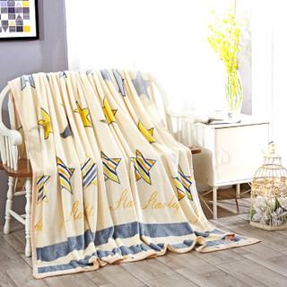南极人 毛毯家纺 加厚云貂绒毛毯 空调毯子毛巾被 办公室午睡四季盖毯 星梦缘 150*200cm