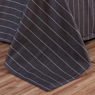 艾薇 套件家纺 全棉四件套斜纹印花双人床上用品 纯棉床单被套 爵士格调 1.5/1.8米床 200*230cm