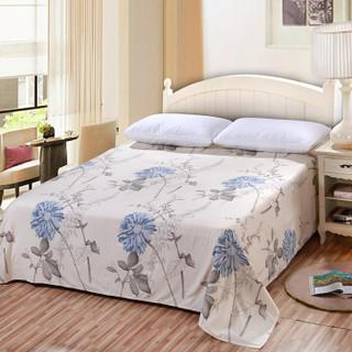 艾薇(AVIVI)床单单件纯棉40支斜纹印花被单加大单人床1.2床150 210似水流年