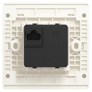 ABB开关插座面板 带POE功能WIFI插座 轩致系列 白色 AF335