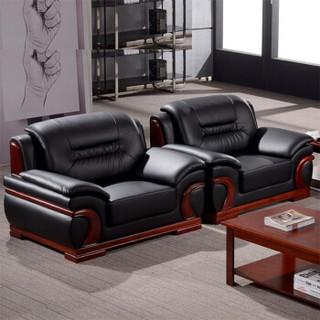 好事达易美定制沙发 客厅皮艺沙发 实木扶手 单人位DT003