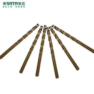 世达(SATA) 10件套直柄含钴麻花钻4.8 mm 52348 现货