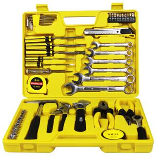 威克(vico)WK-ZT07 49件机修工具套装 家用工具箱 多功能组合套装箱