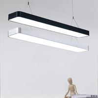 HAIDE 海德照明 办公室吊灯 银色 1.2m 中性光 4000K