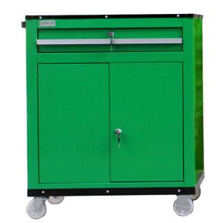老A(LAOA)绿色单抽双开门工具推车 喷塑LA111815-量大可定做