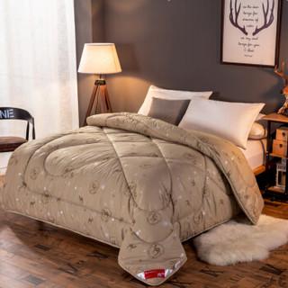 北极绒 加厚透气驼毛被子被芯 单人双人保暖冬被春秋棉被褥 180*220cm 5斤