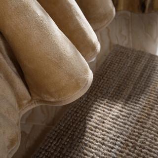 北极绒 加厚素色法兰绒毛毯 纯色毯子夏季午睡空调毯 毛巾被 法兰绒盖毯 驼色 200*230cm