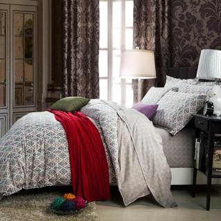 LEELAND 礼澜 花舞轻盈 精梳棉活性印花床上四件套纯棉1.5/1.8米床