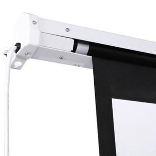 快朵小屋(KUAIDUOXIAOWU)180英寸4:3白塑电动幕 投影幕布 投影布 投影仪幕布 电动遥控幕布 投影机幕布