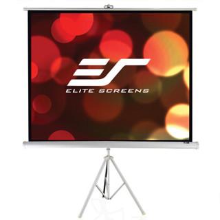 亿立(Elite Screens)84英寸4:3白塑支架幕布 投影幕布 投影仪幕布 投影幕 幕布(ECT84V1 便携幕)