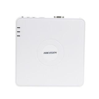 海康威视网络监控录像机硬盘录像机监控主机4路带POE供电 DS-7104N-F1/4P(B) 带4TB硬盘
